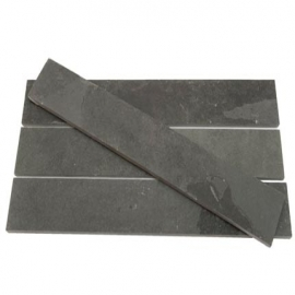 Black Riven Slate Strips
