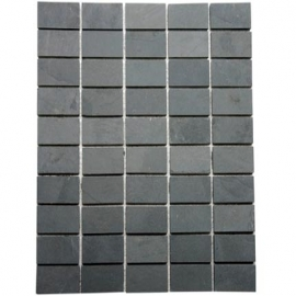 Grey Straight Brick Mosaic