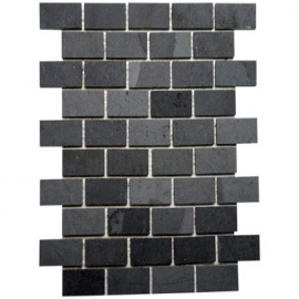 Black Brick Bond Mosaic