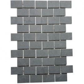 Grey Brick Bond Mosaic